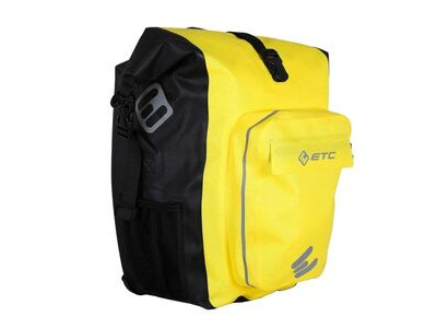 ETC Arid Waterproof Roll top Pannier 27L Black Yellow