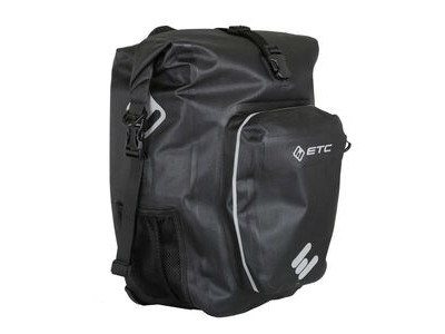 ETC Arid Waterproof Roll top Pannier 27L Black