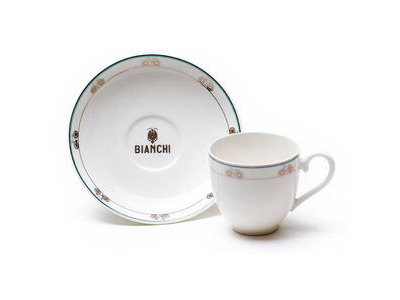Bianchi Cafe & Cycles Espresso Cup and Saucer