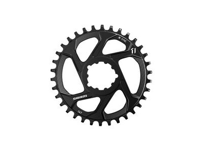 SRAM Chain Ring Eagle X-sync 38t Direct Mount 6mm Offset Alum 12 Speed Black 12spd 38t